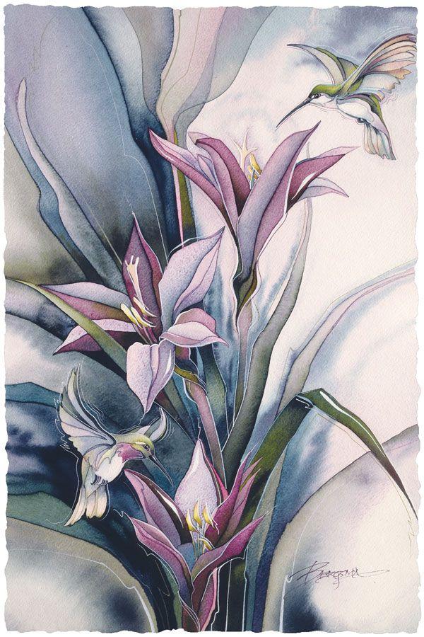 Bergsma Gallery Press::Paintings::Nature::Birds::Hummingbirds::On The Wings Of Love - Prints