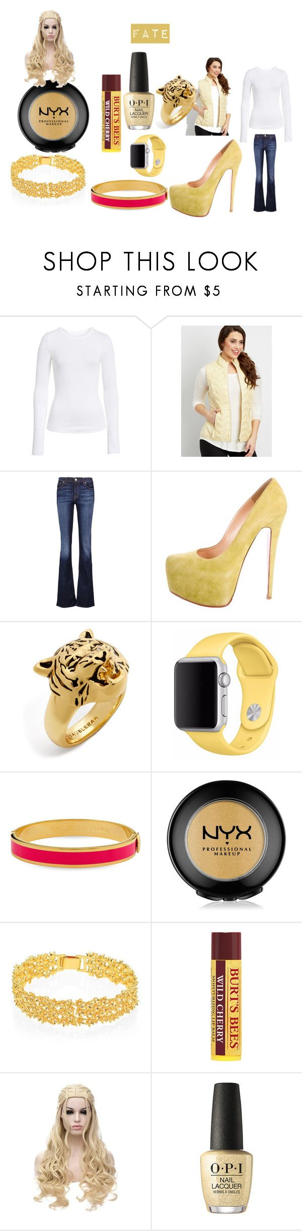 """""""Fate"""" by queen-posion-ivy on Polyvore featuring BP., maurices, 7 For All Mankind, Christian Louboutin, BaubleBar, Apple, Halcyon Days, NYX, Lele Sadoughi and HorsemanCouncil"""
