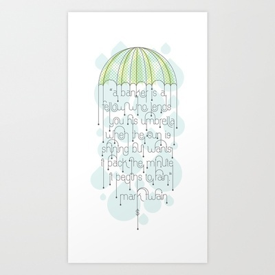 Umbrella Art Print by Jude Landry - $20.00: 2000