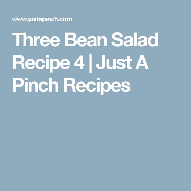 Three Bean Salad Recipe 4   Just A Pinch Recipes