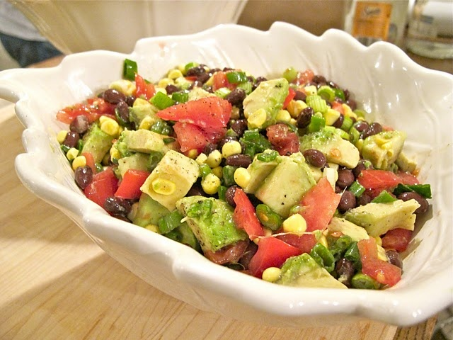 Avocado, Corn, and Black Bean Salad | Food | Pinterest