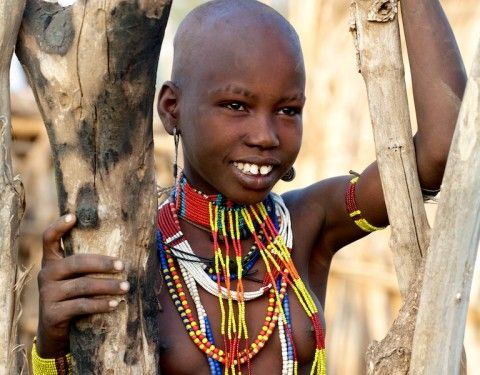 young nude tribe girl