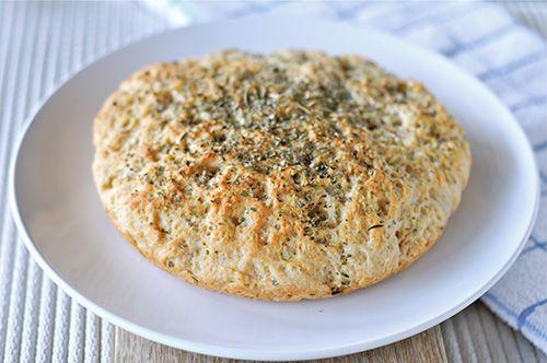 Schnelles Focaccia-Brot glutenfrei eifrei ohne Hefe hefefrei