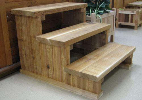 Diy Wood Spa Steps Google Search