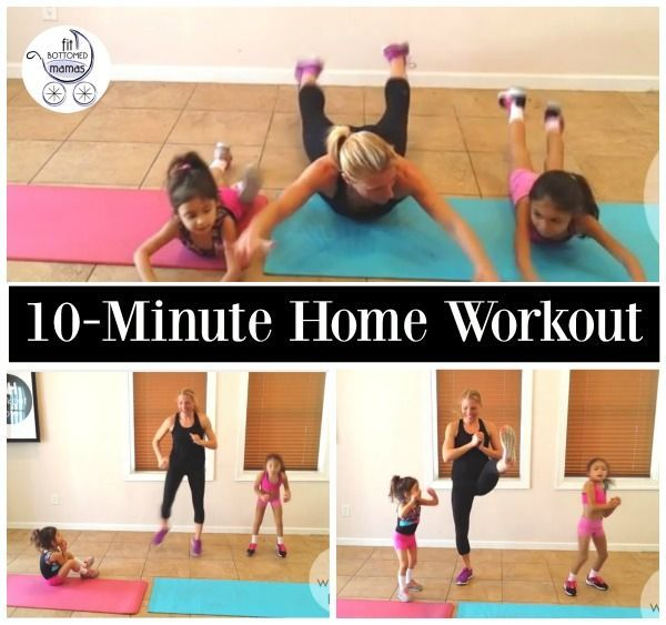 You can do this quick 10-minute home workout with the whole family (the kids will love it too)!