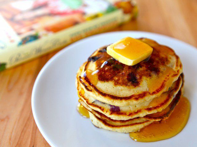 "Lemon Blueberry Pancakes Recipe from Ree Drummond's new cookbook, ""The Pioneer Woman Cooks - Food From My Frontier."" Breakfast, Brunch, Dairy."