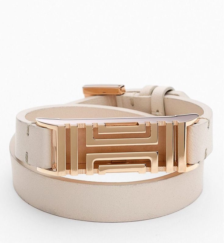 Tory Burch Fitbit wrap bracelet now on sale. Love this!