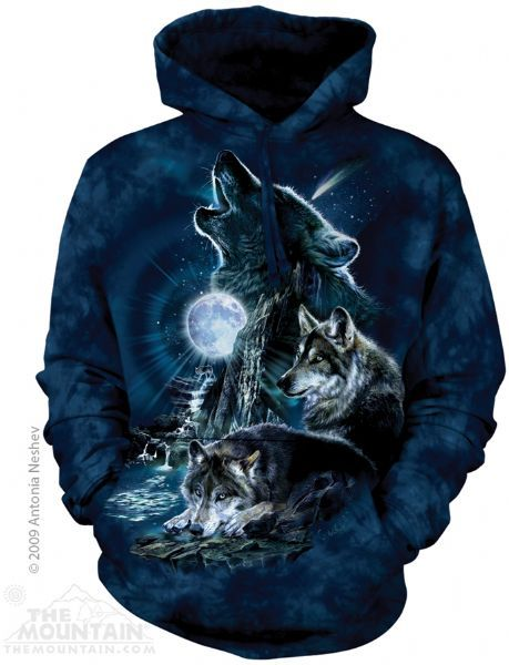 The Mountain Wolf Hoodie   Bark at the Moon