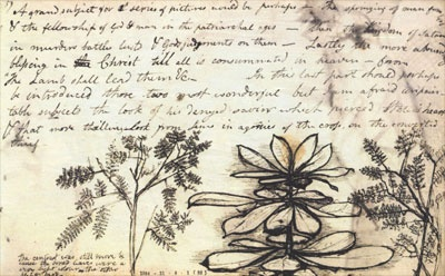 A page from Samuel Palmer's sketchbook