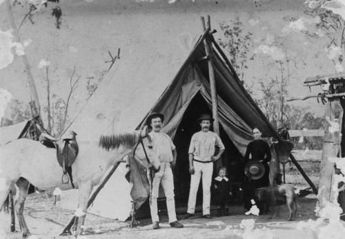 Family camping in the Rosewood district Queensland 1880s