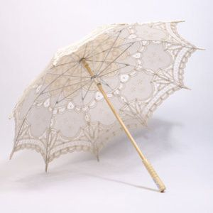 Fancy parasols are an important accessory for your Downtown Abbey Wedding