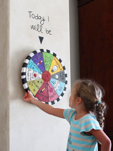 A lazy susan! GENIUS! Wouldn't this be cool if it had different rewards painted on and an especially good kid got to spin the wheel for a reward?
