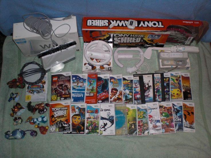Wii-Konsole, Skylander-Portal,11 Skylanders-Figuren und 24 Spielen Nintendo, Wei