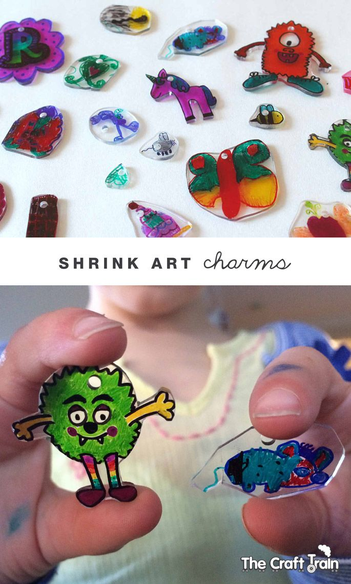 Create cute shrink art charms