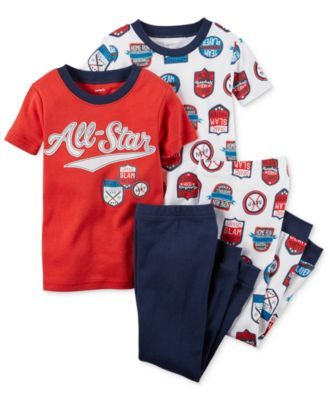 Carter's Toddler Boys' 4-Piece All-Star Pajamas Set