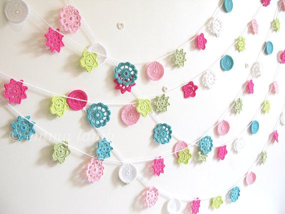 NEW Sylvie - Special Edition 'Homespun Style' Forever Flower Garland