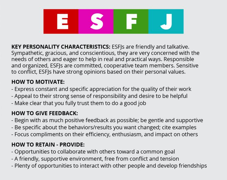 dating an esfj personality type They best match with the esfp or estp personality types 4 the esfj personality dating partners include esfj or of the mbti relationship compatibility.