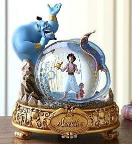 Fantasies Come True - Disney collectibles and memorabilia - Aladdin 15th anniversary musical snowglobe - Abu Aladdin Genie