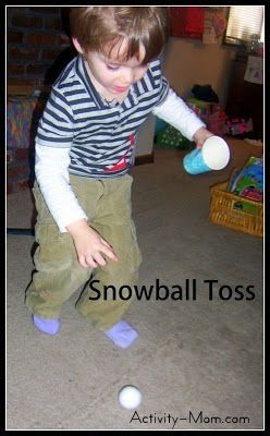 The Activity Mom: Indoor Snowball Games