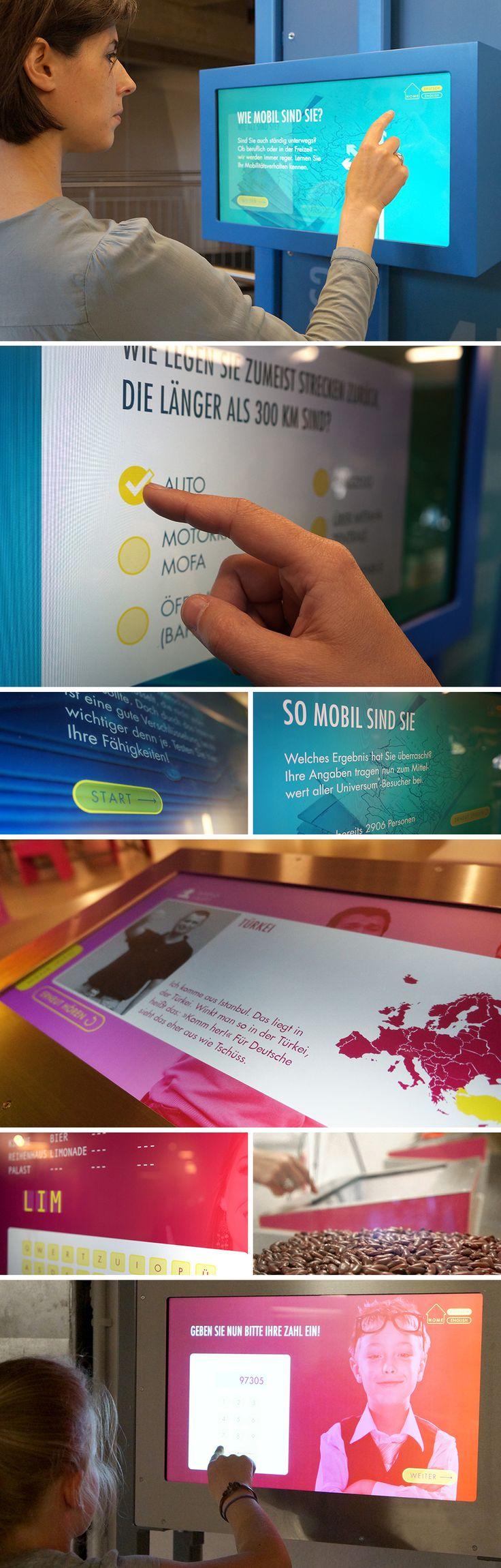 Feinkonzeption, Screendesign für 20 interaktive Exponate für das #universum Bremen Science Center für #gemelo. mehr: www.skope-group.de