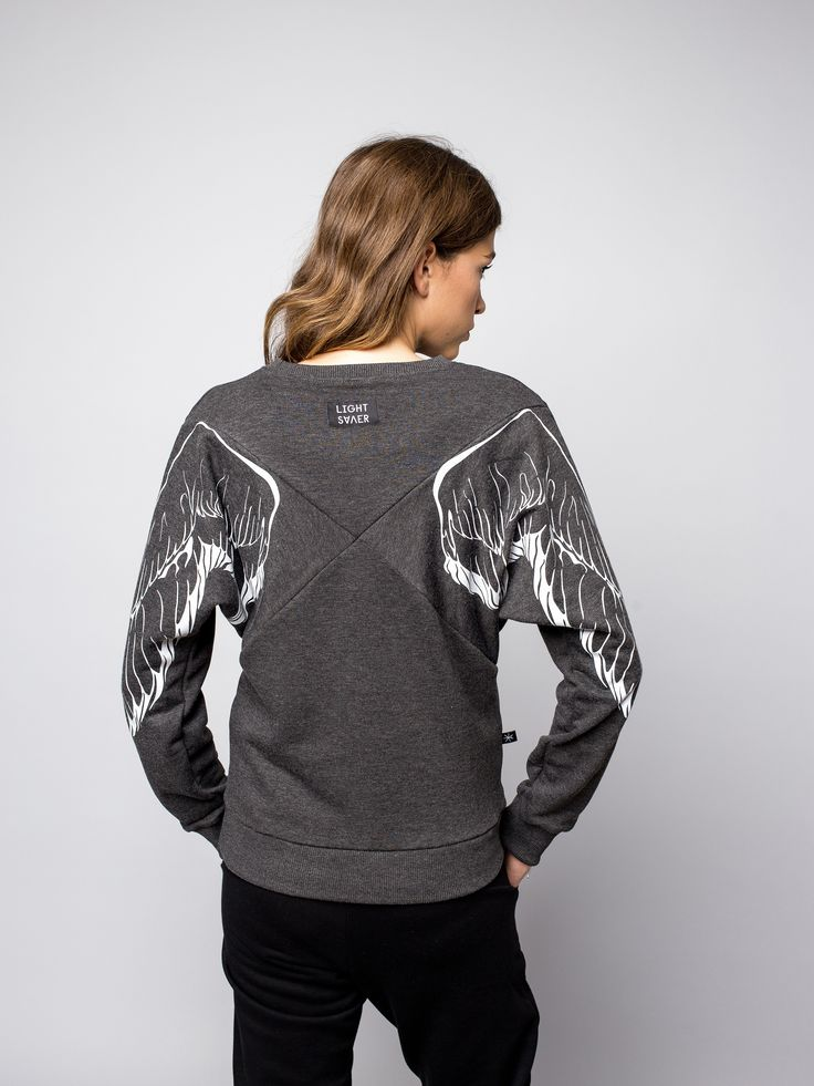 "Свитшот ""Х"" с светоотражающими крыльями в магазине «Lightsaver» на Ламбада-маркете"