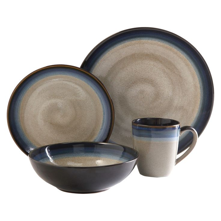 Gibson Couture Bands 16pc Dinnerware Set : Target
