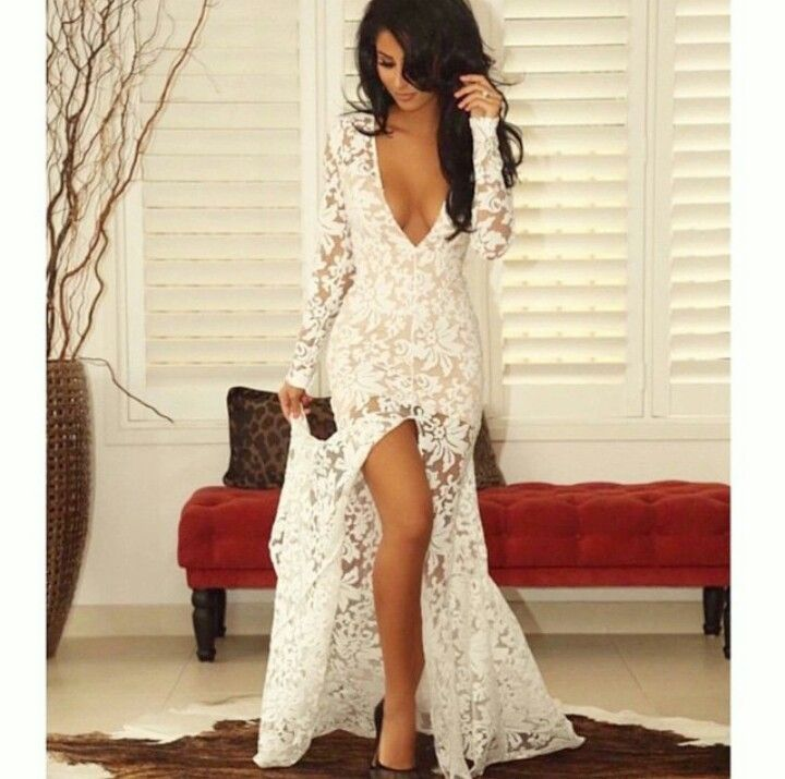 White Lace Wedding Reception Dresses