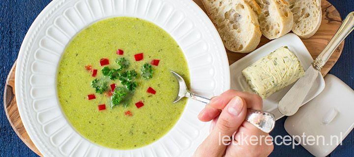 courgette soep met erwten