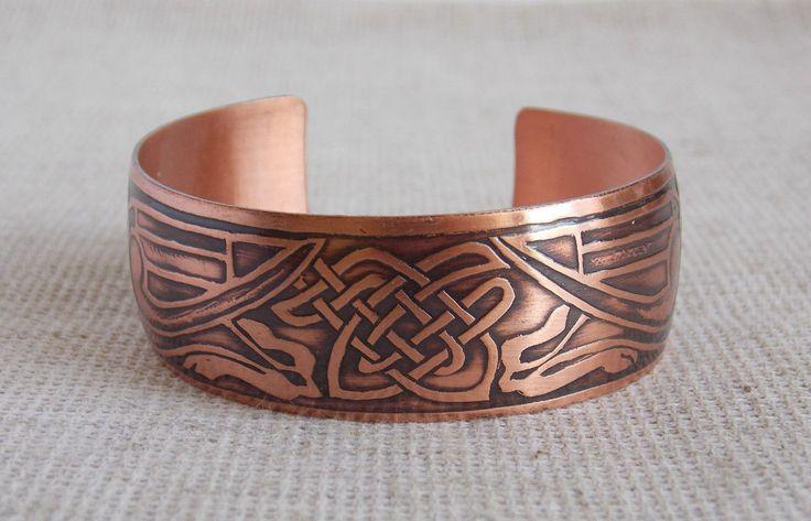 Медный браслет с парой грифонов. Кельтские узоры, цена 290 грн., купить в Херсоне — Prom.ua (ID#9387063)