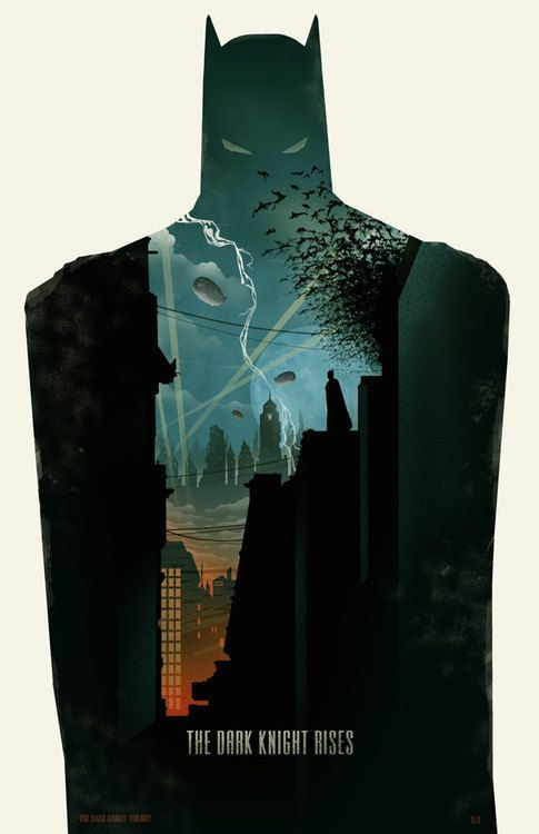 Illustration / just art: The Dark Knight Trilogy Poster by Michael Rogers