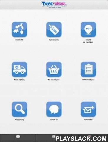 """Toys Shop  Android App - playslack.com , Το Toys Shop είναι η εφαρμογή για android του ηλεκτρονικού καταστήματος παιχνιδιών http://www.toys-shop.gr"""">toys-shop.gr το οποίο αποτελεί μέλος του ομίλου Τσαφ-Τσουφ .Η εφαρμογή σας δίνει τη δυνατότητα να :- Περιηγηθείτε στα προϊόντα του καταστήματος- Να δείτε προσφορές και νέες αφίξεις προϊόντων- Να προσθέσετε προϊόντα στη λίστα επιθυμιών σας- Να κάνετε Online τις αγορές σας- Να συνδεθείτε με τα social media του toys shop- Να κάνετε εγγραφή στο…"""