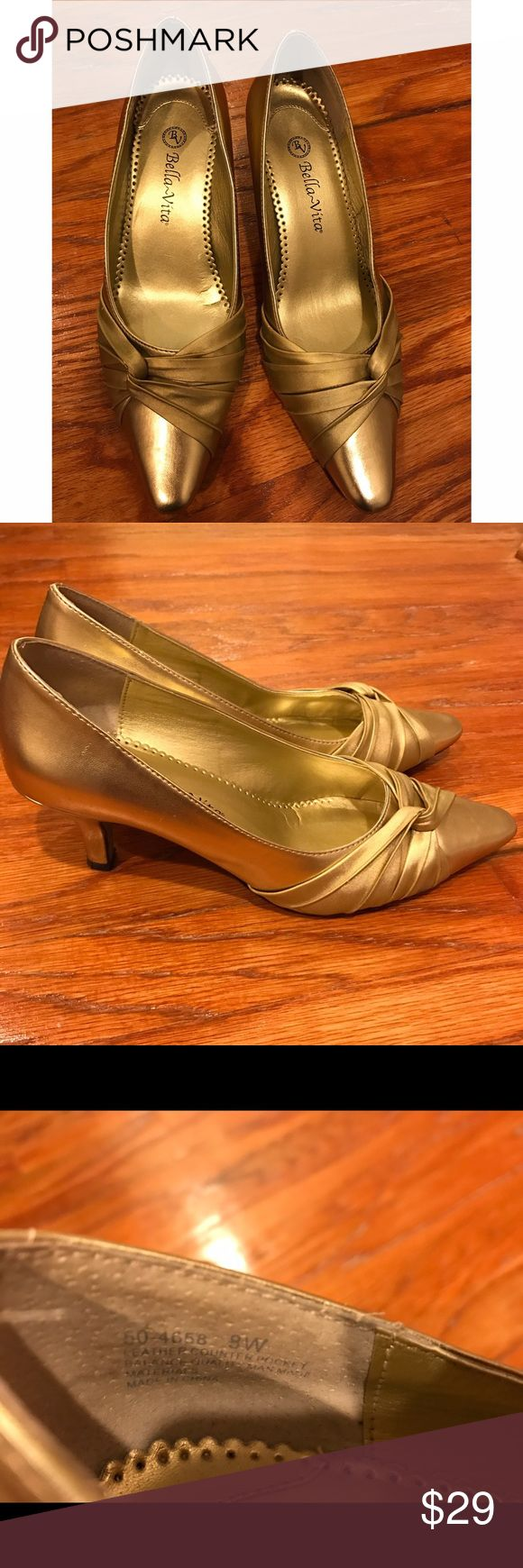 Bella Vita gold color pumps Beautiful pumps size 9w bella vita Shoes Heeled Boots