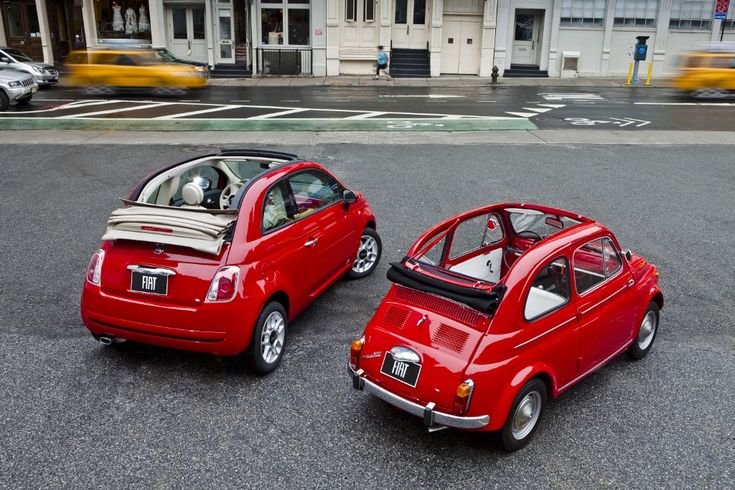 2012 FIAT 500c Pop (left) with 1962 FIAT 500 (right)