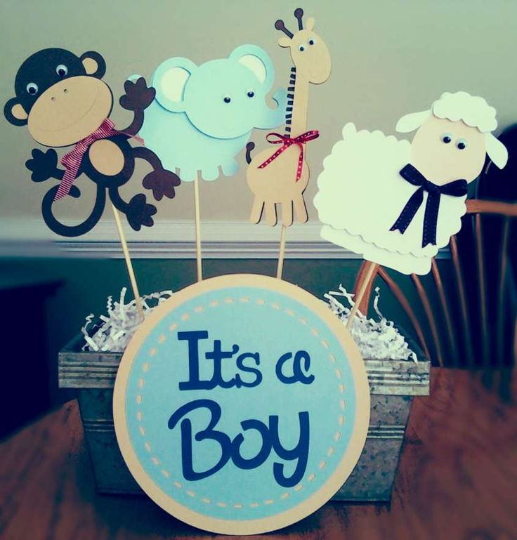Baby Shower: idee orignali e divertenti - Baby Shower: centrotavola per maschietto
