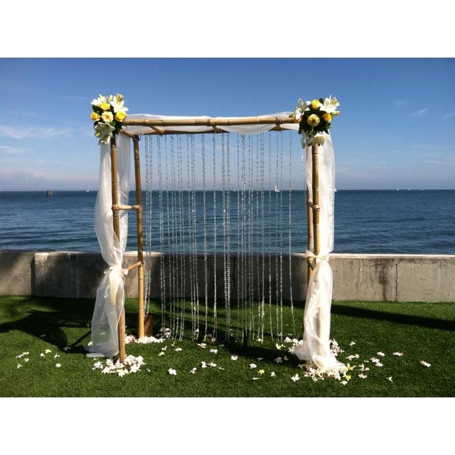 Bamboo Wedding Arch: Natural Bamboo Arch
