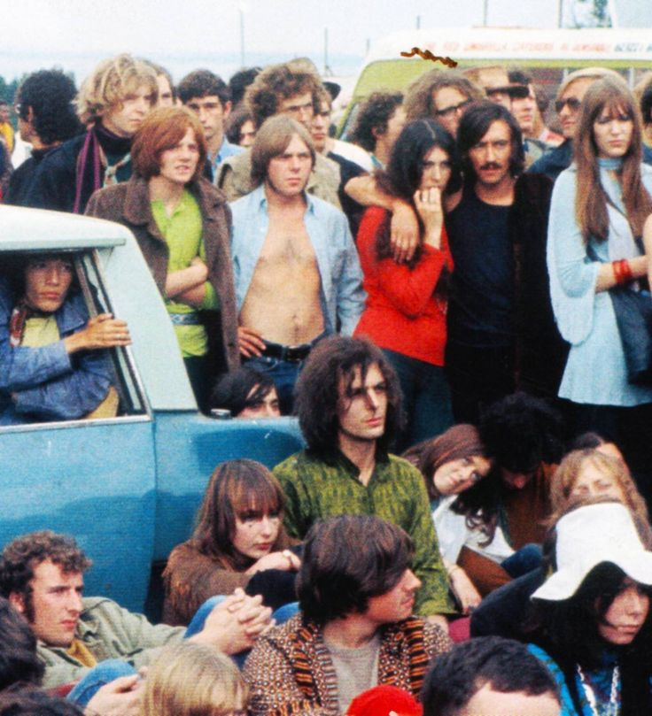 Syd Barrett at the Isle of Wight Festival, 1969.