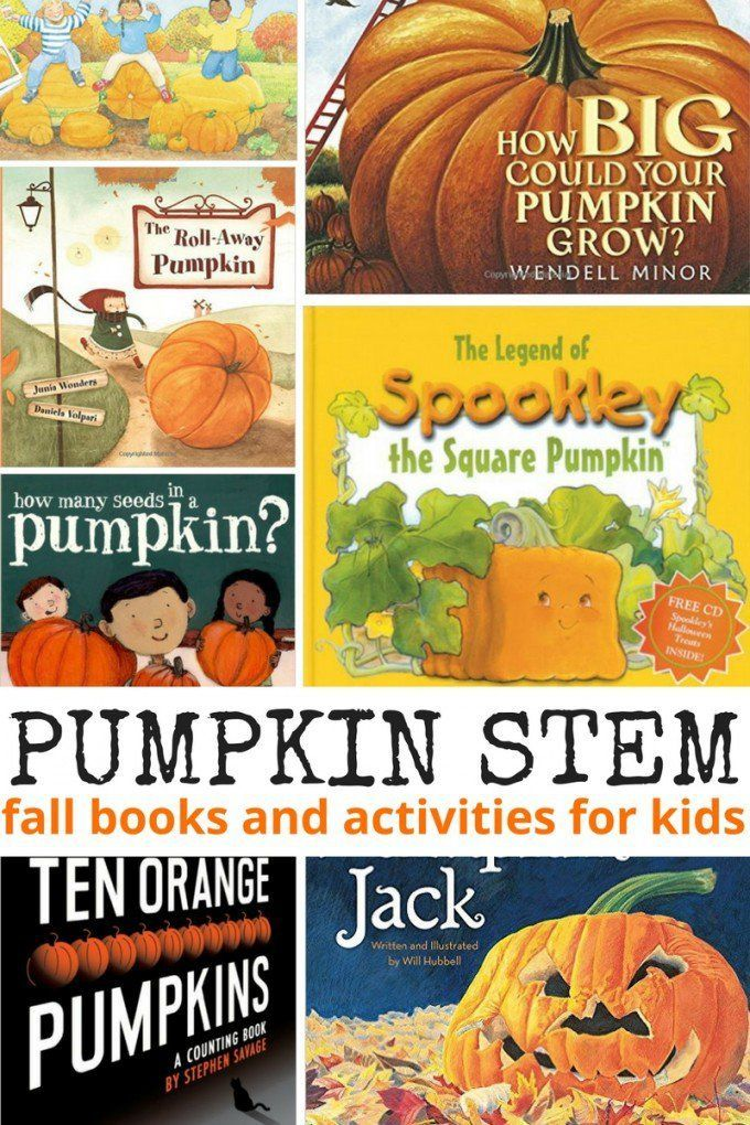 Pumpkin books with STEM activities and science experiments for young kids…