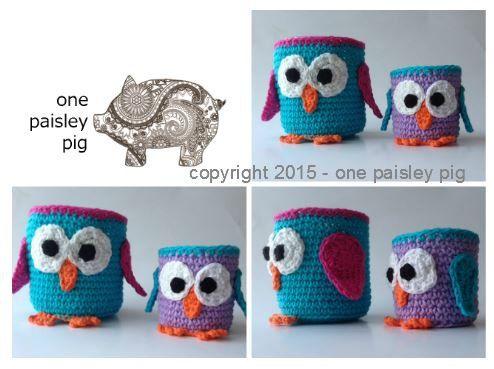 PATTERN  Crochet Owl Baskets
