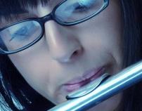 Flute player by Fedja Papric, via Behance