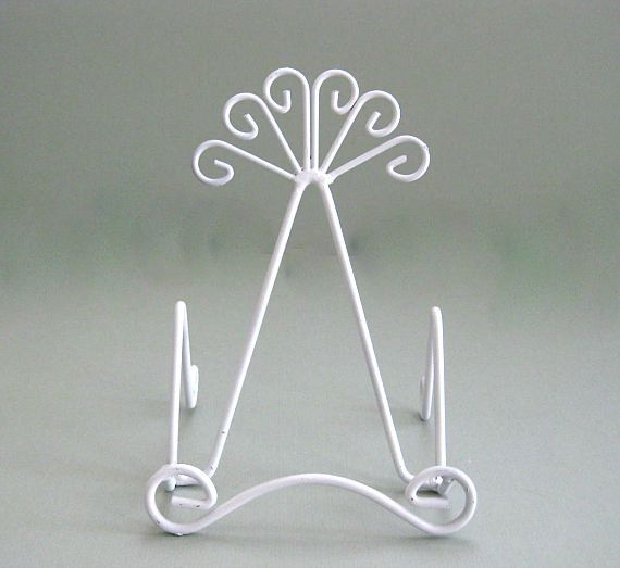 Art Easel Decor Table Stand Display Stand Art Stand Plate Display Plate Stand Book Stand Photo Stand Picture Stand Display Easel White Metal by afloralaffair on Etsy