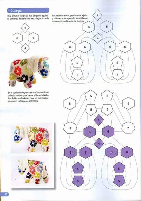 amigurumi hexagon horse crochet