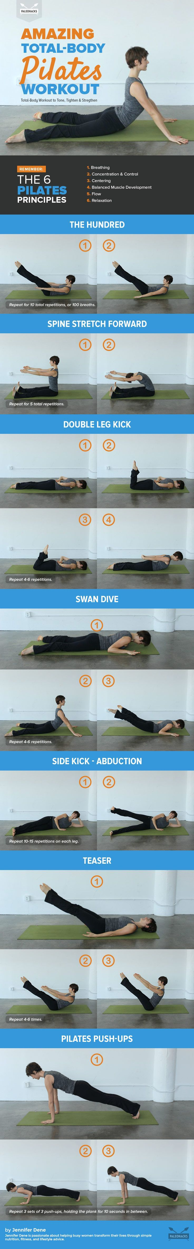 nice Take your fitness to the next level with a full body Pilates workout that will s...