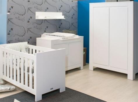 Overzicht van de babykamer uit de collectie Bianco van Bopita.