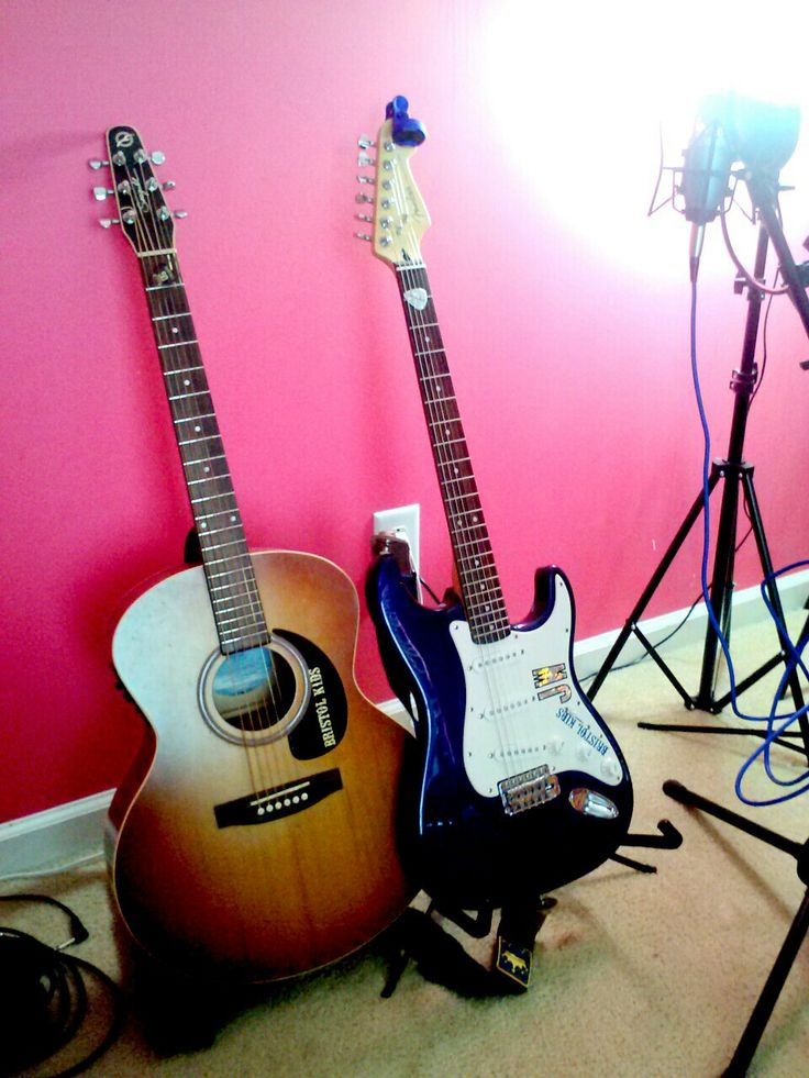 Fender and Seagull guitars. Bristol Kids Studio