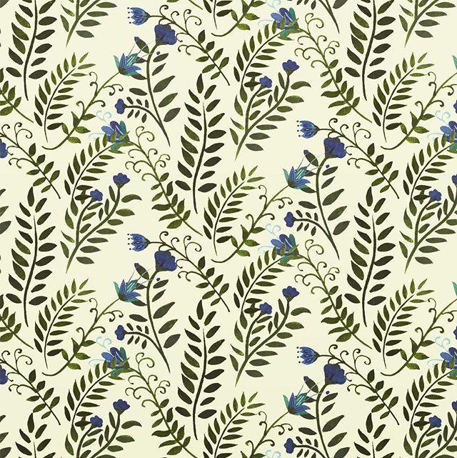 pattern design, illustration, wrapping paper, Eva Lechner, botanical pattern, floral