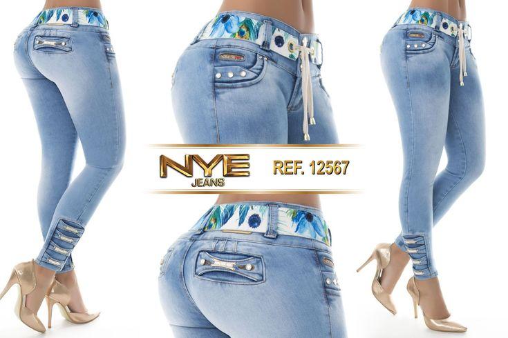 Pantalón colombiano NYE +Modelos en: www.ropadesdecolo... #pantalón #pantalones #pantalonescolombianos #moda #jeans #pantalon #pushup #levantacola #ventas #online #modadama #modalatina