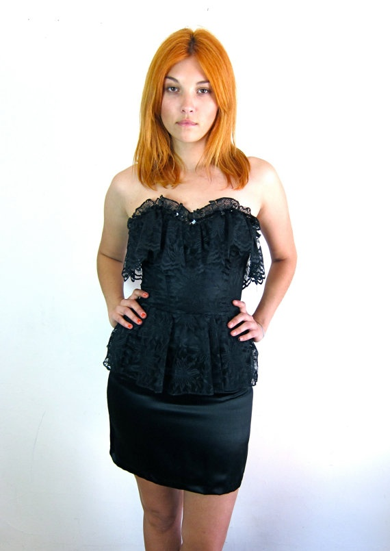 Sexy Little Black Lace Cocktail Dress by asecretshop on Etsy, $74.00