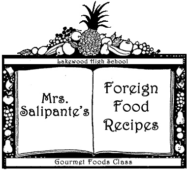 Foreign Food Recipes and a project to boot!