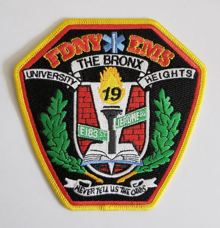 FDNY EMS station 19 patch University Heights The Bronx NYC