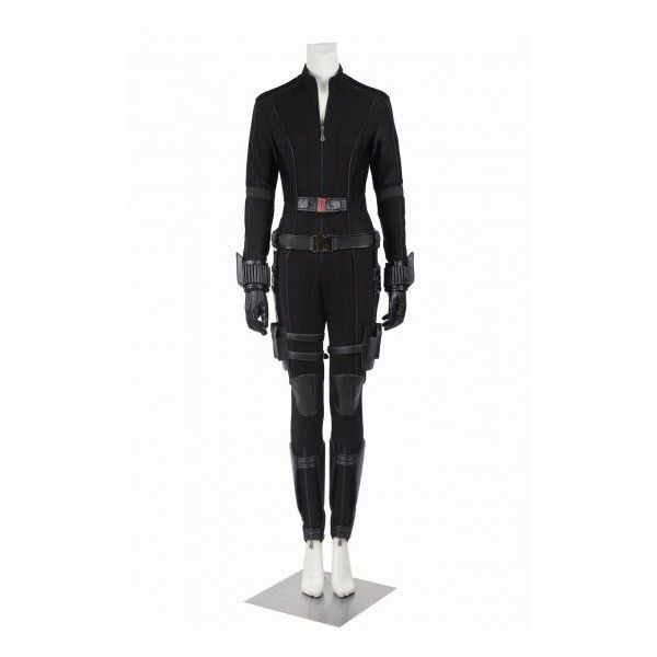 Captain America Civil War Black Widow Cosplay Costume - ON BIG SALES ($188) ❤ liked on Polyvore featuring costumes, black widow spider halloween costume, captain america civil war costume, civil war costumes, black widow cosplay costume and black widow civil war costume